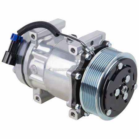 AC Compressor & A/C Clutch For Freightliner Replaces Sanden 4417 4485 - Freightliner A/c