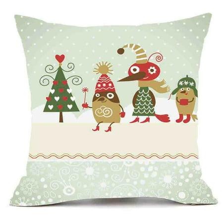 Christmas Pillows.Merry Christmas Pillows Cover Decor Pillow Case Sofa Waist Throw Cushion Cover F