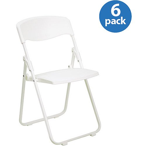 Premium White Plastic Folding Chair Set Of 6