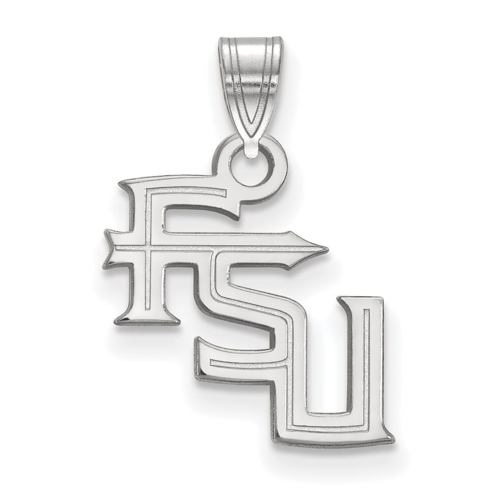 Florida State Small (1/2 Inch) Pendant (Sterling Silver)