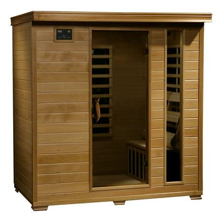 Radiant Saunas 4-Person Hemlock Infrared Sauna w/ 9 Carbon Heaters