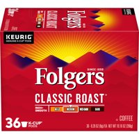 Folgers Classic Roast Coffee K-Cup Pods, Medium Roast, 36 Count