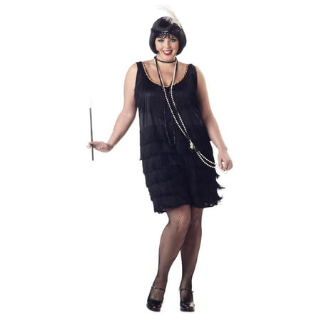 Great Gatsby 1920's Fashion Flapper Sexy Women Plus Size Halloween Costume (1920's Flapper Girl Costume)
