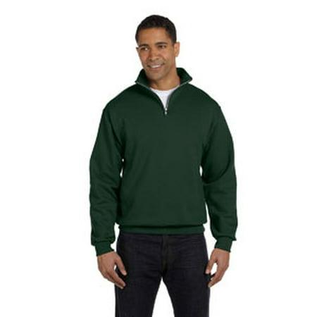 Jerzees Adult 8 Oz  Nublend  Quarter Zip Cadet Collar Sweatshirt 995M