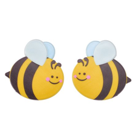 ON SALE Bee Cuties Layons Cake Toppers Table Decorations Party Favors Unique 4 Count (Beer Party Decorations)