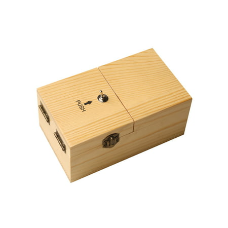 - Useless Box - Battery Operated Wooden Novelty Trick Toy with Switch