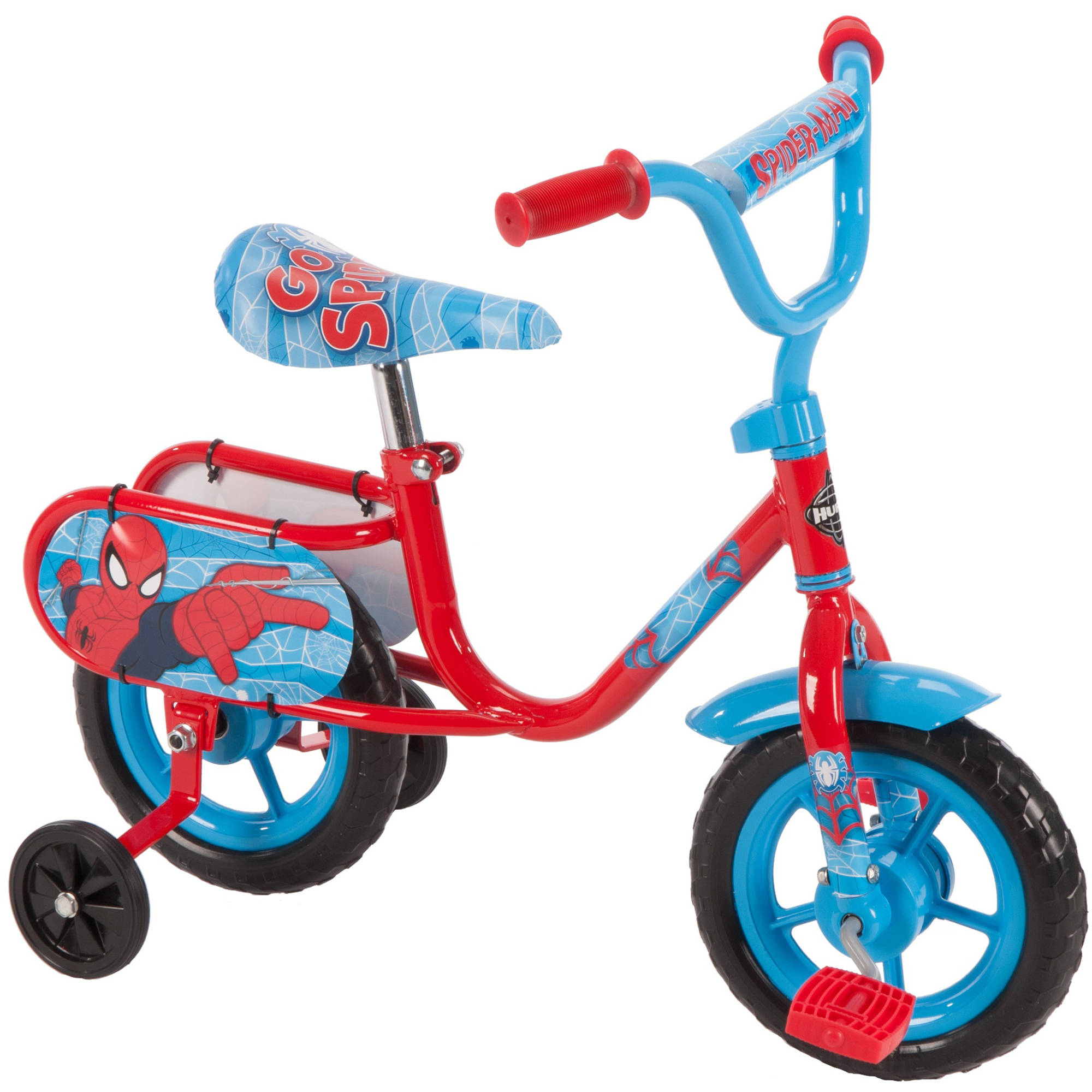 Marvel Spider-Man 10″ Boys' Pedal Cycle Bike for Toddlers, by Huffy