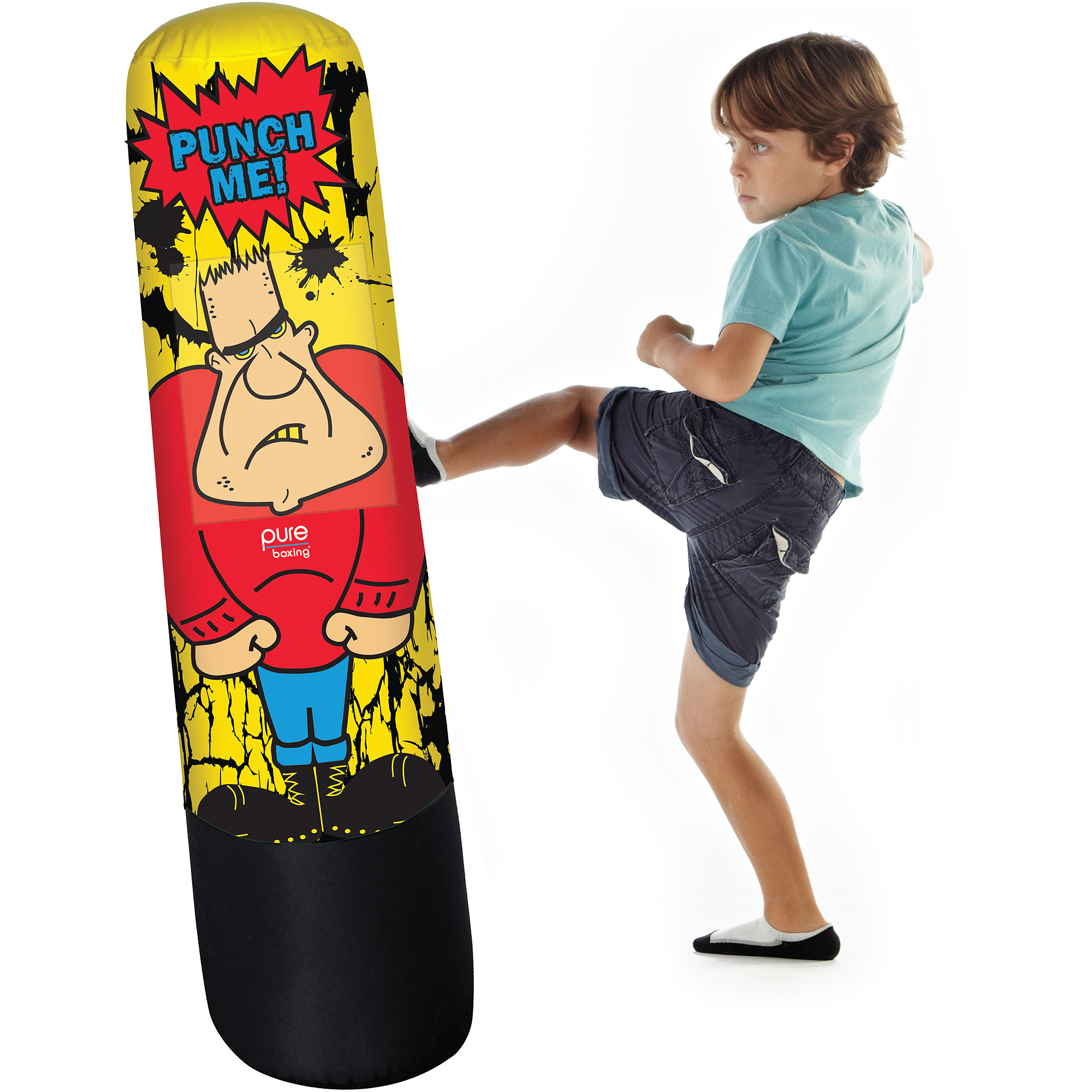 Pure Boxing Bully Bag Inflatable Punching For Kids