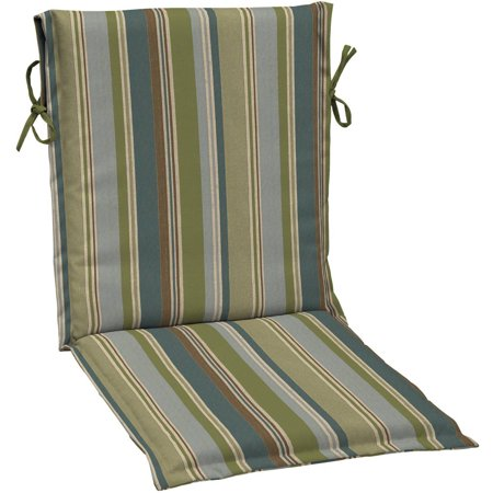 Better homes and gardens outdoor patio sling chair cushion blue green stripe for Better homes and gardens patio furniture cushions