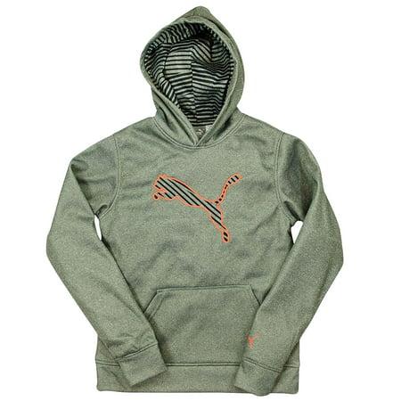 b3cbab6592bd PUMA Boys Hoodie Athletic Sweatshirt With Hood Fleece Breathable Gray X- Large - Walmart.com