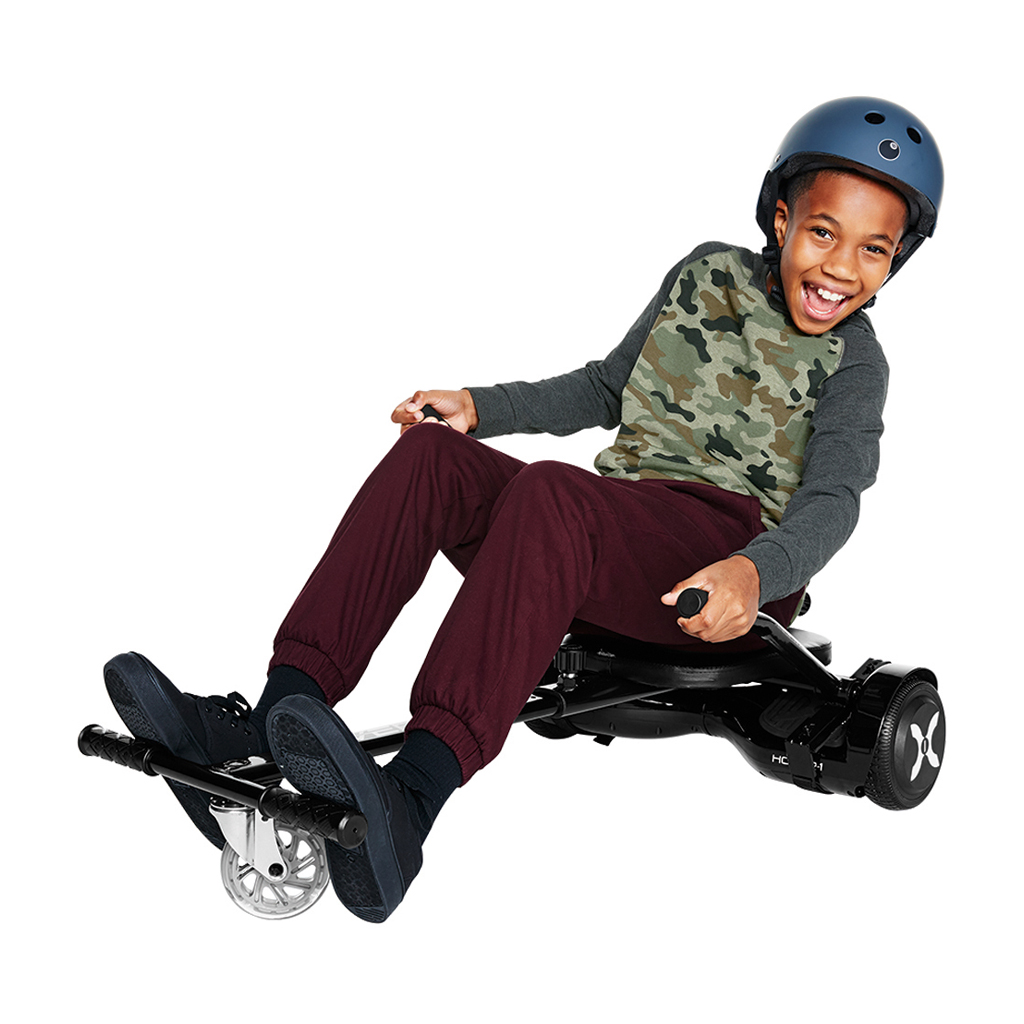 "Hover-1 Kart and Allstar Electric Hoverboard w/ 6.5"" Wheels and LED Lights Combo - Black"