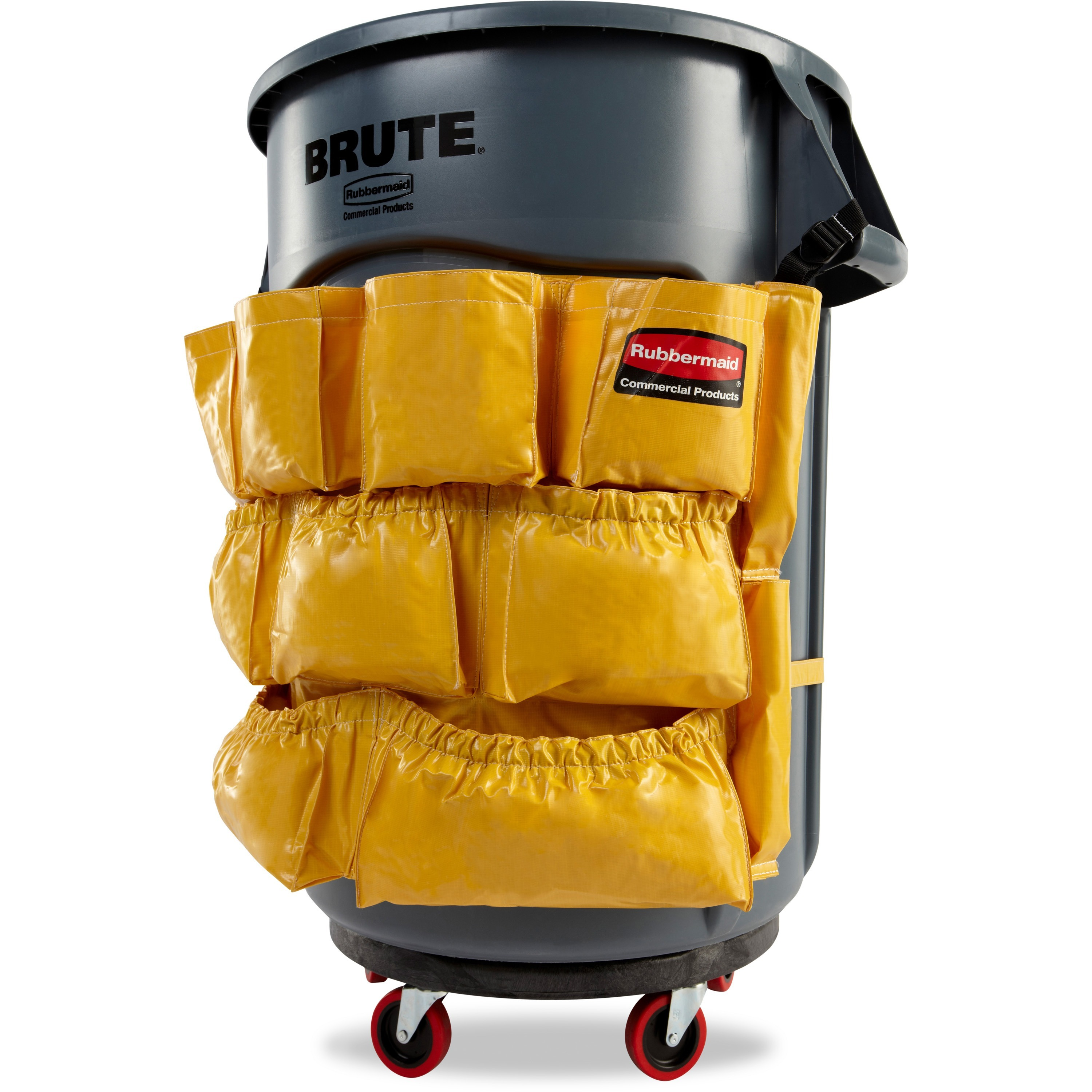 Rubbermaid Brute Utility Container Caddy Bag, Yellow, 1 Each ...