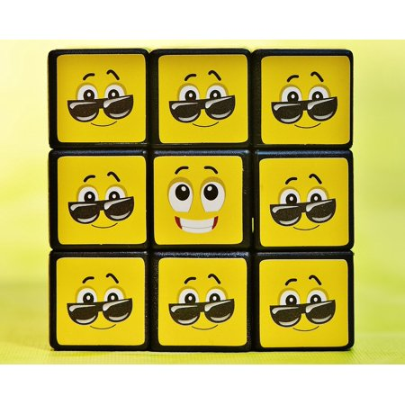 Laminated Poster Feelings Smilies Mood Cube Emoticon Funny Emotion Poster Print 11 x (Emotion Cubes)