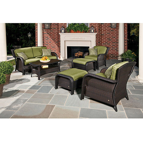 Hanover Strathmere 6 Piece Patio Seating Set