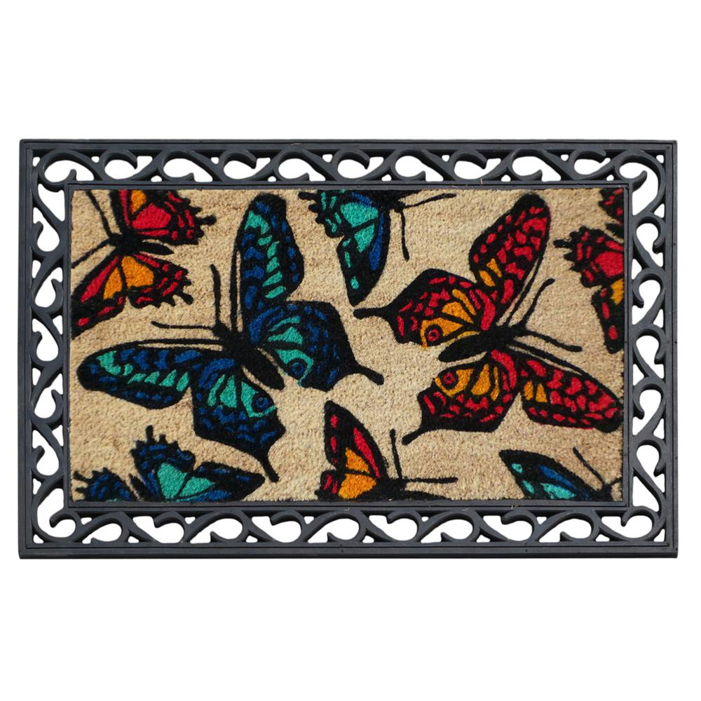 "First Impression Butterflies Coco Rubber Tray Mat (24"" x 36"")"
