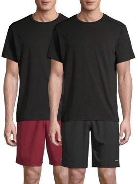 Athletic Works Men's and Big Men's Tri Blend Active Tee 2 Pack, up to 5XL