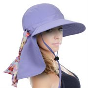 Sun Hat for Women Large Neck Flap Hat with UPF 50+ Sun Protection for Outings, Beach, Hiking, Travel by Sun Blocker