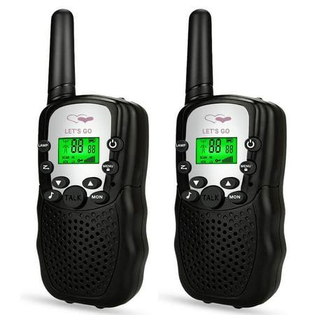 Dreamingbox Handheld Walkie Talkies for Kids 2 Mile Range Built in Flash Light Hunting Accessories TGDJ888 Best Gifts (Best Handheld Release For Hunting)