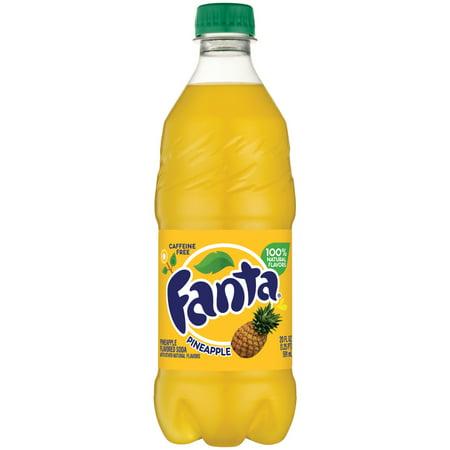 (8 Pack) Fanta Pineapple Soda Bottle, 20 fl oz ()
