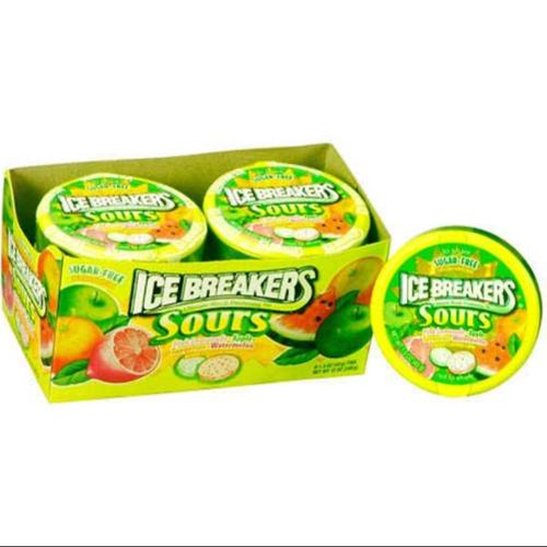 Ice Breakers Sours Sugar Free Candy 8 pack (1.5 oz per pack) (Pack of 2)