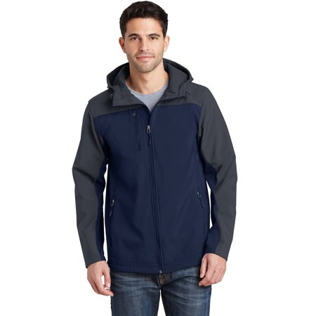Port Authority® Hooded Core Soft Shell Jacket. J335 Dress Blue Navy/ Battleship - image 1 de 1