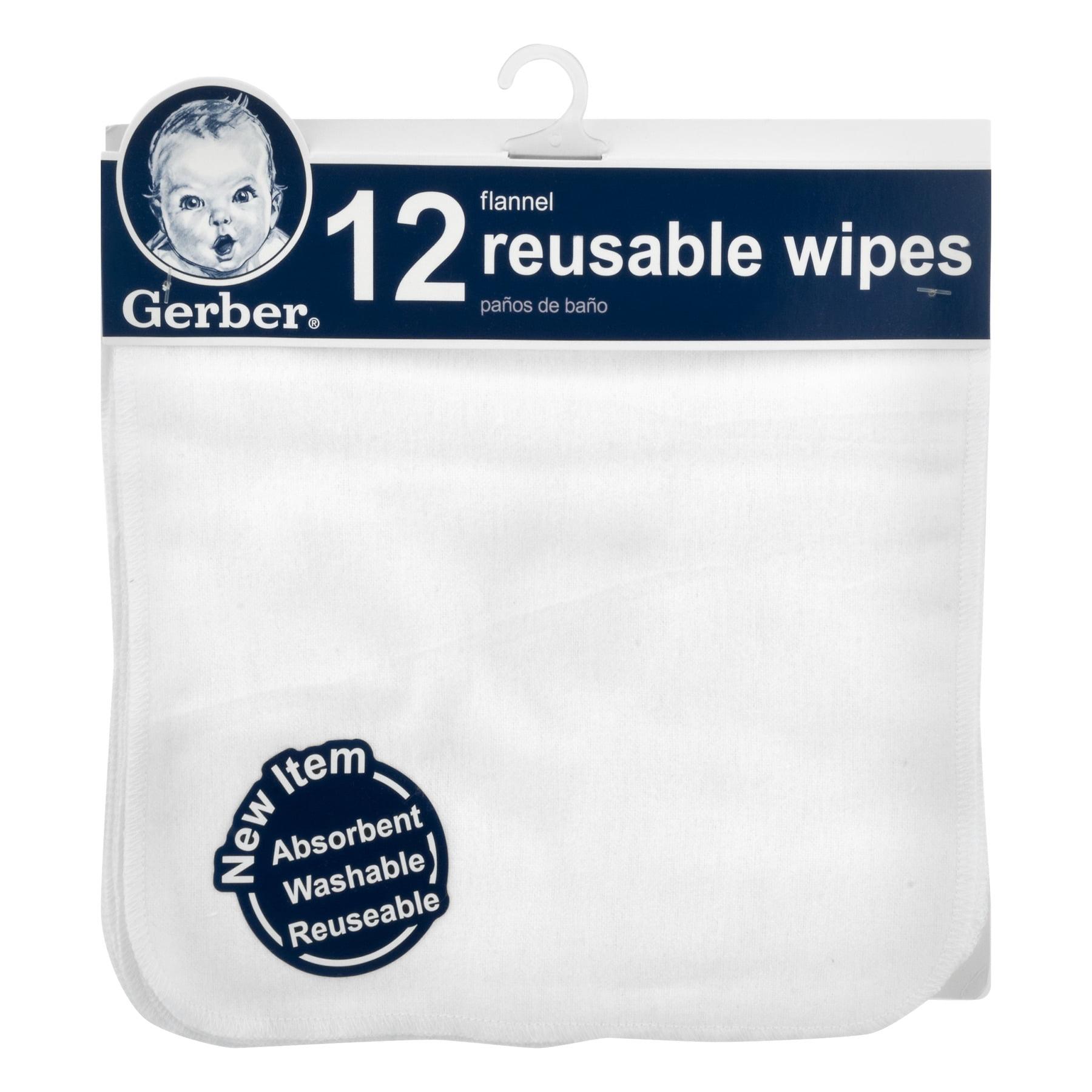 Gerber Flannel Reusable Wipes 12 CT12.0 CT by Gerber