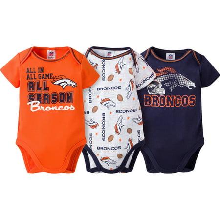 495b6559 NFL Denver Broncos Baby Boys Short Sleeve Bodysuit Set and Accessory Set, 2  Caps and 2 Booties Bundle, 7-Pieces - Walmart.com