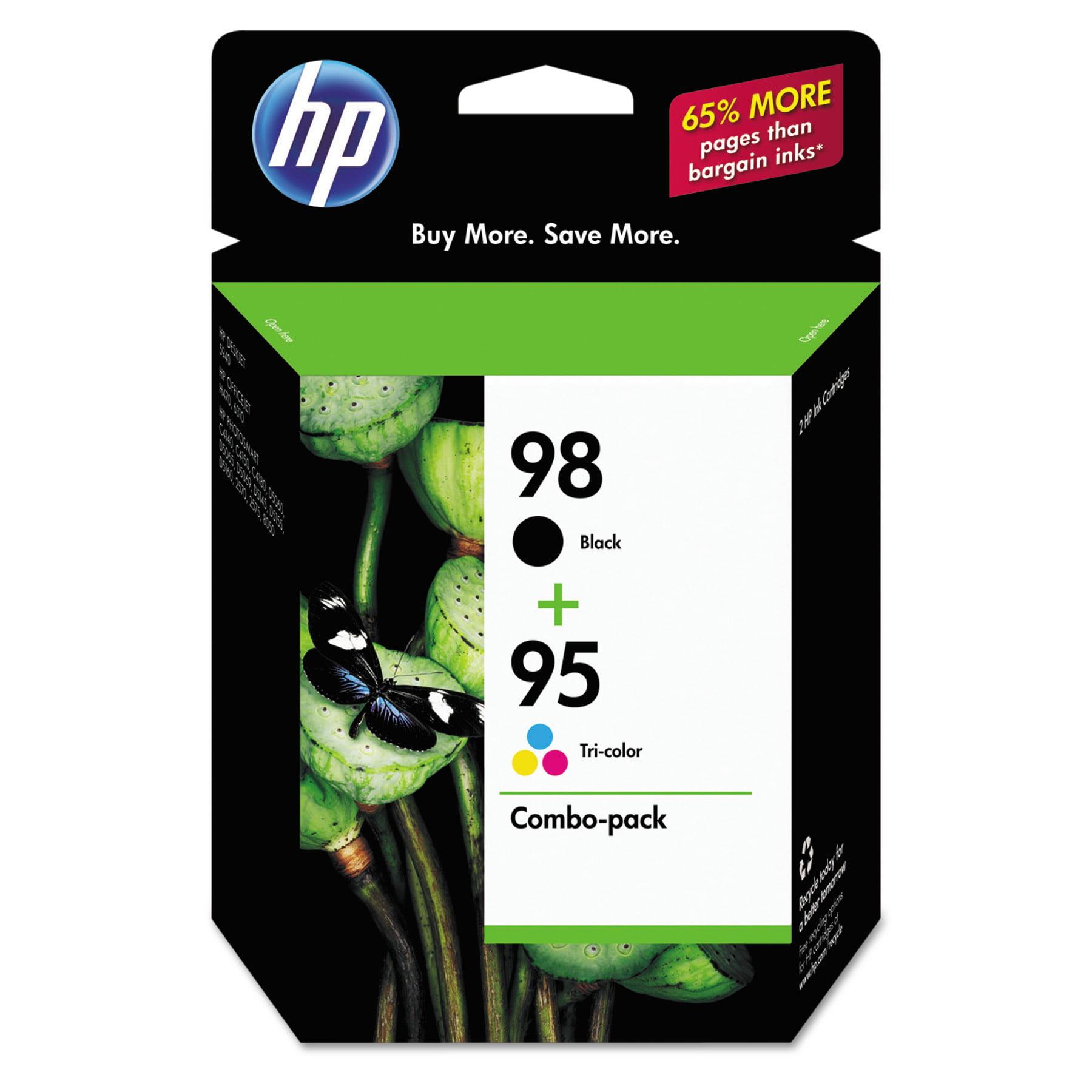 HP 98 Black 95 Tri-color Original Ink Cartridges, 2 pack (CB327FN) by HP