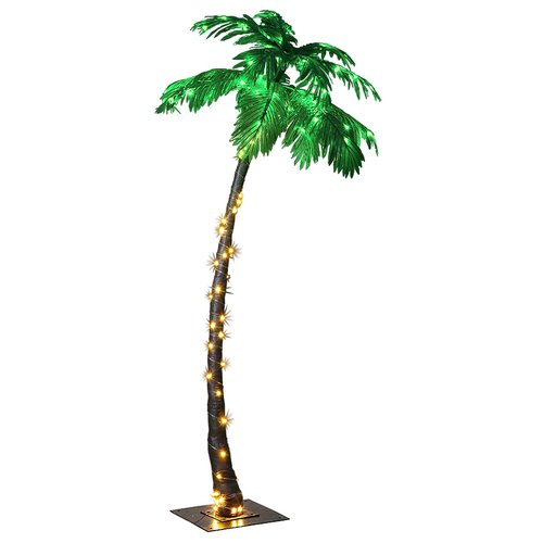 Lightshare 7FT Palm Tree with 96 Lights Green LED