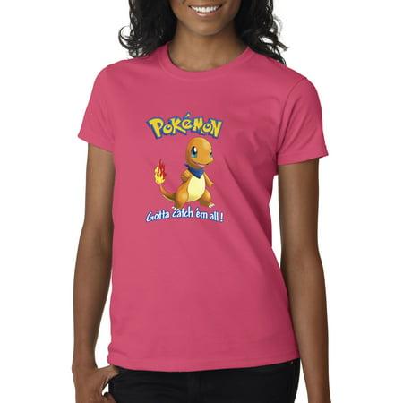 7a04bcec New Way - New Way 560 - Women's T-Shirt Pokemon Go Gotta Catch 'Em All  Charmander - Walmart.com