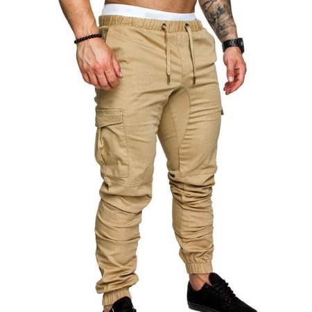 Boyijia Mens Pocket Pants Casual Elastic String Fashion Long Trousers Joggers - image 1 of 8