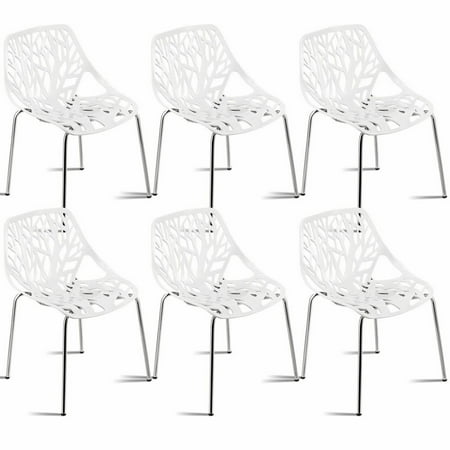 Fantastic Set Of 6 Birch Sapling Plastic Dining Side Chairs Stackable Accent Armless White Walmart Canada Interior Design Ideas Tzicisoteloinfo