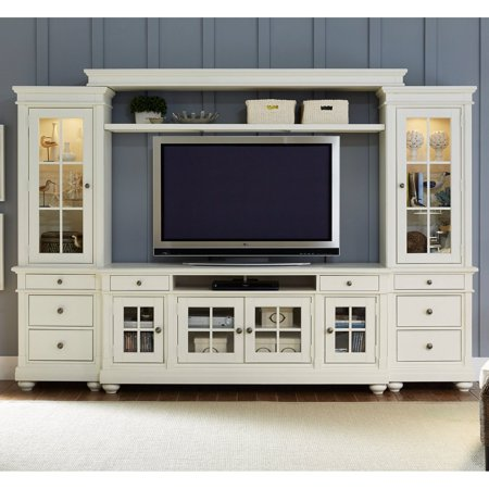 Side Entertainment Pier - Liberty Furniture Harbor View Entertainment Center with Piers