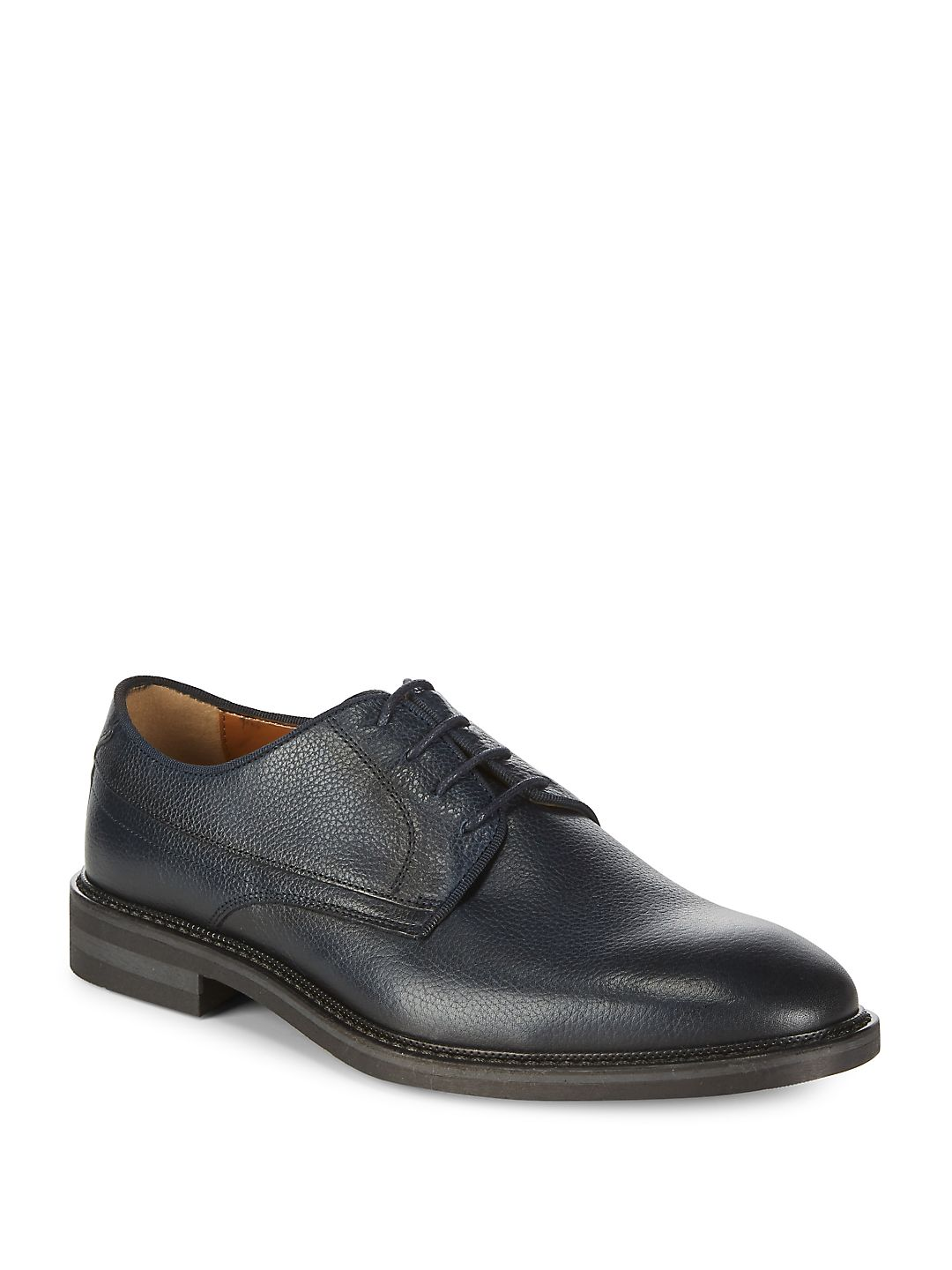 Pebbled Leather Derby Shoes