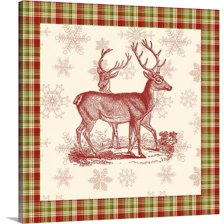 - Great BIG Canvas | Vision Studio Premium Thick-Wrap Canvas entitled Reindeer Toile I