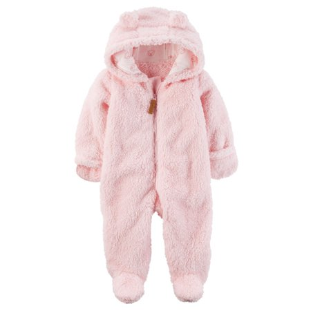 a45863e6a Carter s - Carter s Baby Girls  Hooded Sherpa Pram Sleep   Play