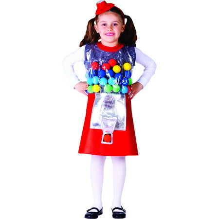 Gumball Machine Costume - Size Large 12-14 - Gumball Machine Halloween Costume Diy