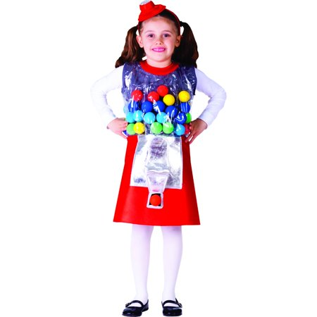 Gumball Machine Costume - Size Large 12-14](Gumball Dress)