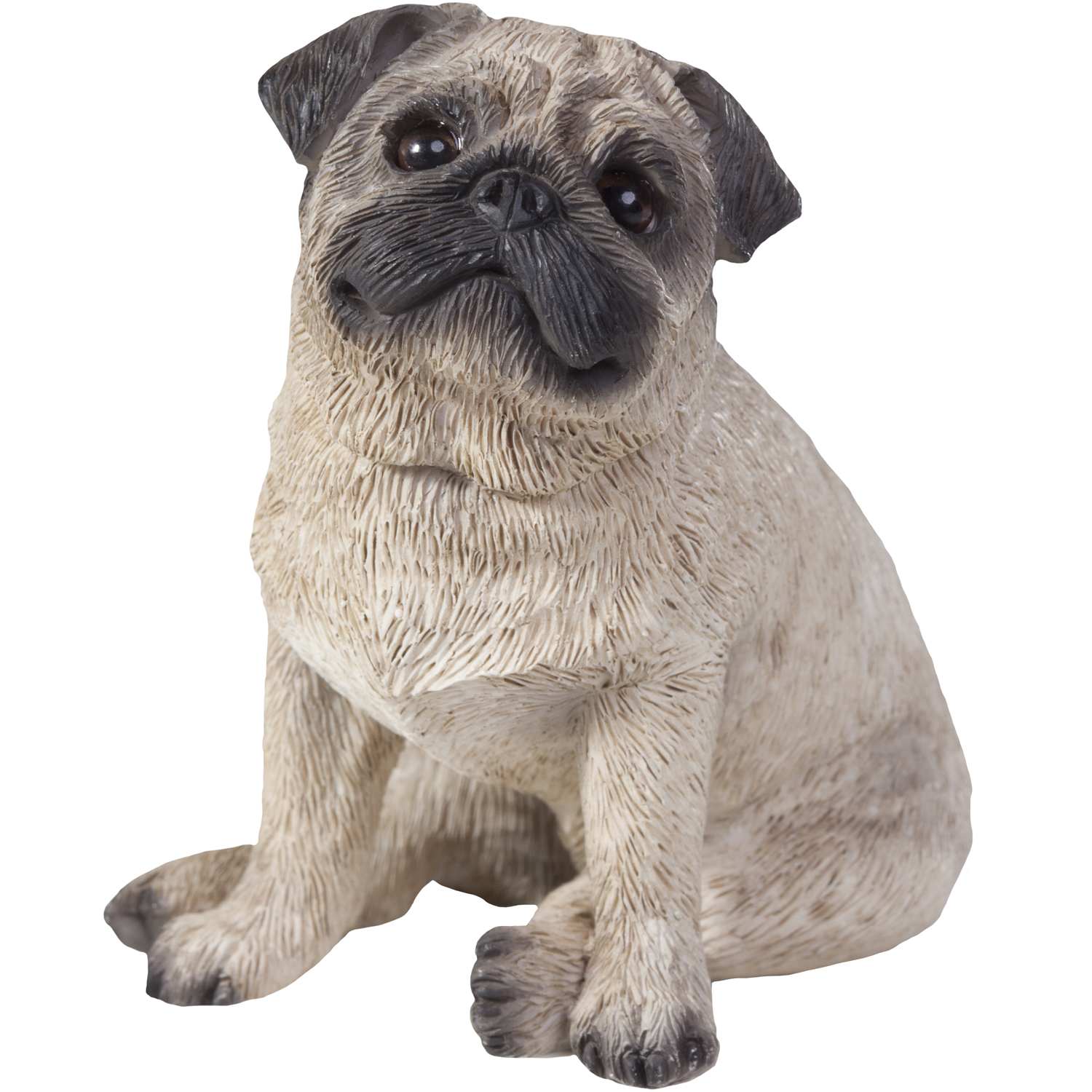 "Sandicast ""Small Size"" Sitting Fawn Pug Dog Sculpture"
