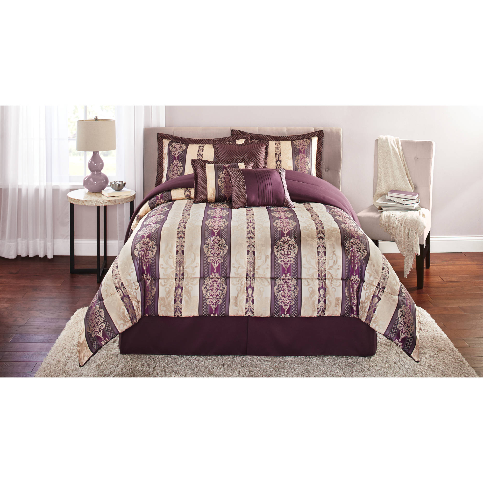 Bedroom Decor Adelaide discontinued*** mainstays adelaide 7-piece damask embroidered