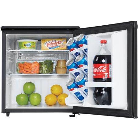 Danby Designer 1.7 Cubic Foot Mini Fridge Compact Refrigerator, Black (2 (Coca Cola 1-7 Cubic Foot Mini Fridge)