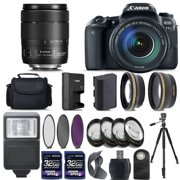 Canon EOS 77D Digital SLR Camera + 18-135mm IS USM Lens + 2 X 32GB + Telephoto + Wide-Angle Lens + Filters + Flash + Case + Tripod (18-135mm IS USM)