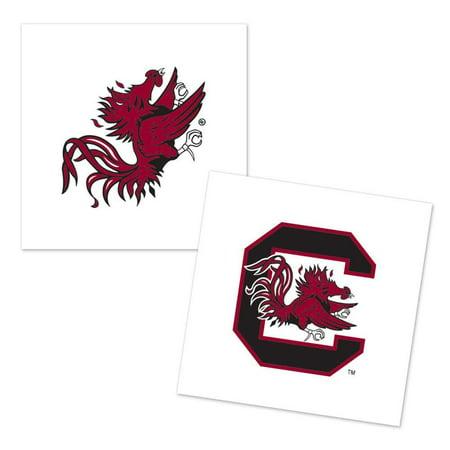 South Carolina Gamecocks Temporary Tattoo - 4 Pack - - Gamecock Tattoos