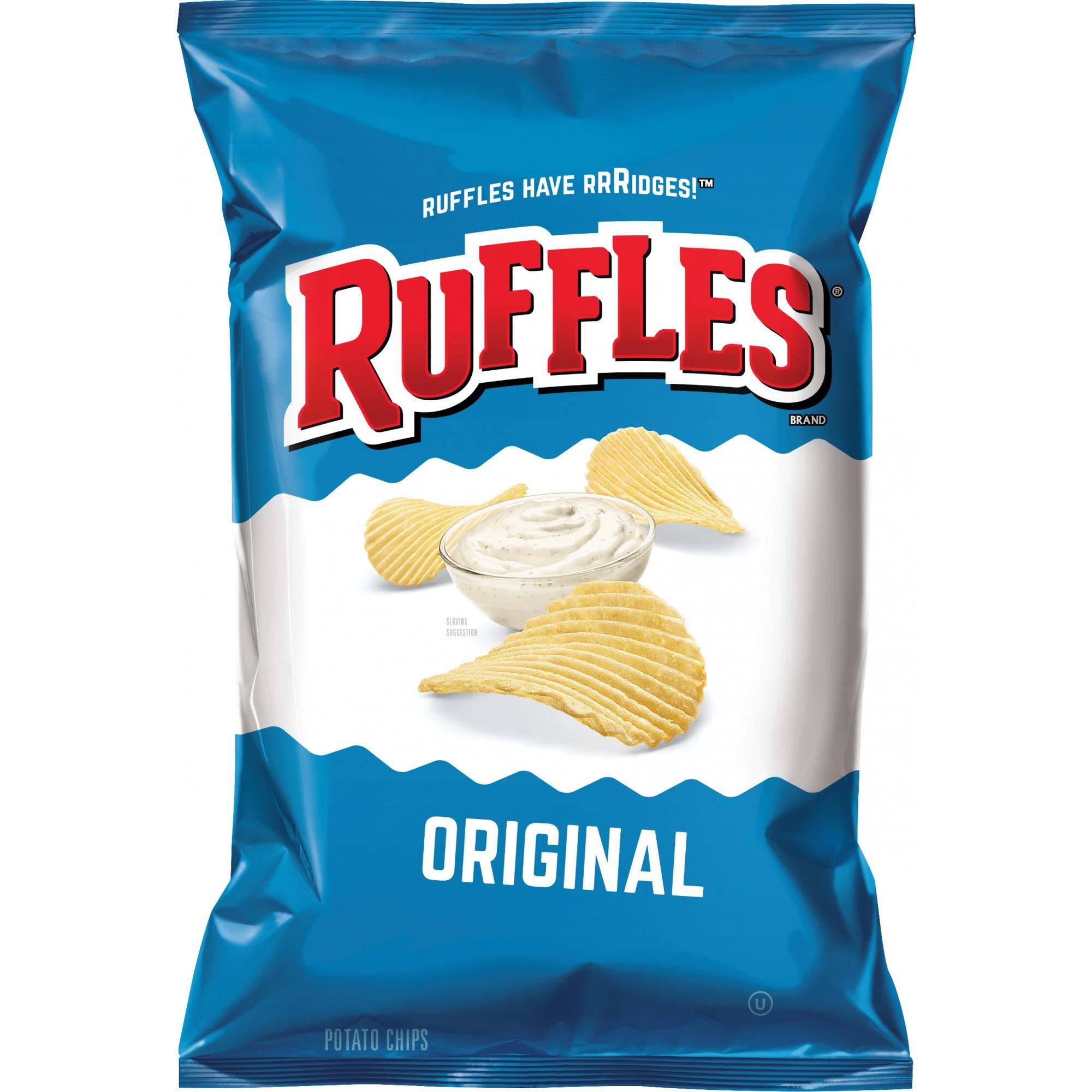 (3 Pack) Ruffles Potato Chips, Original, 9 oz Bag