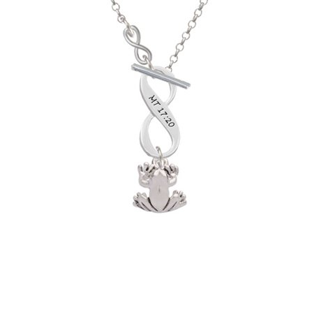 Small Frog - To Infinity Matthew 17:20 Toggle Necklace - Frog Necklace