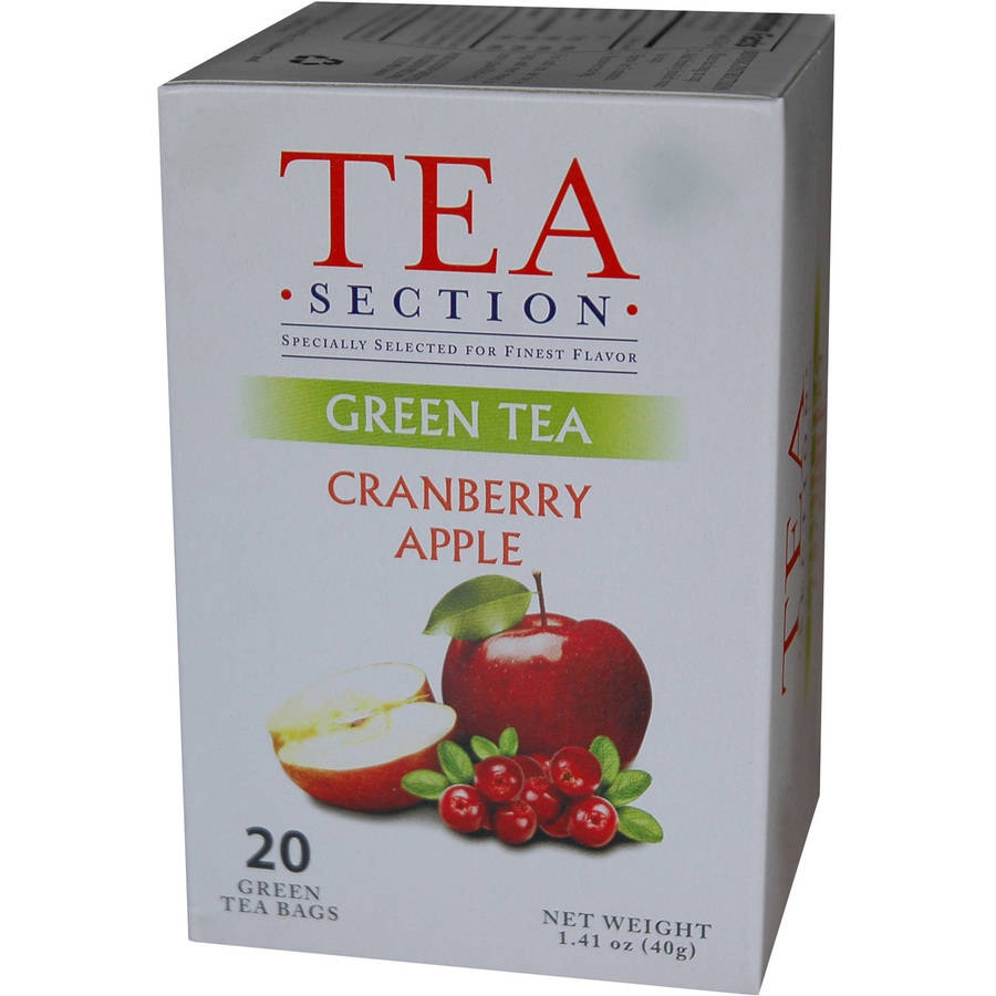 Tea Section Cranberry Apple Green Tea Bags, 20 count