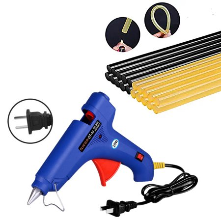 Hot Glue Gun Kits with 20pcs Glue Sticks High Temperature Melting Glue Gun for DIY Small Projects, Arts and Crafts, Home Quick Repairs,Artistic Creation and Christmas Decoration/Gifts