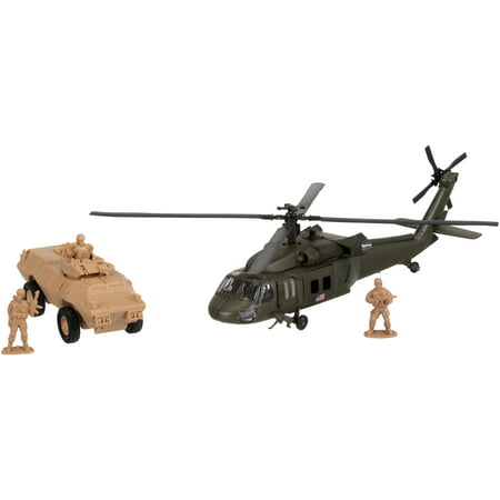 New-Ray Military Mission Helicopter + Tank Set 5 pc Box