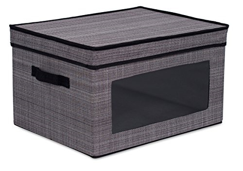 Exceptionnel ... Internetu0027s Best Storage Box With Window | Durable Storage Bin Basket  Containers With Lids And Handles