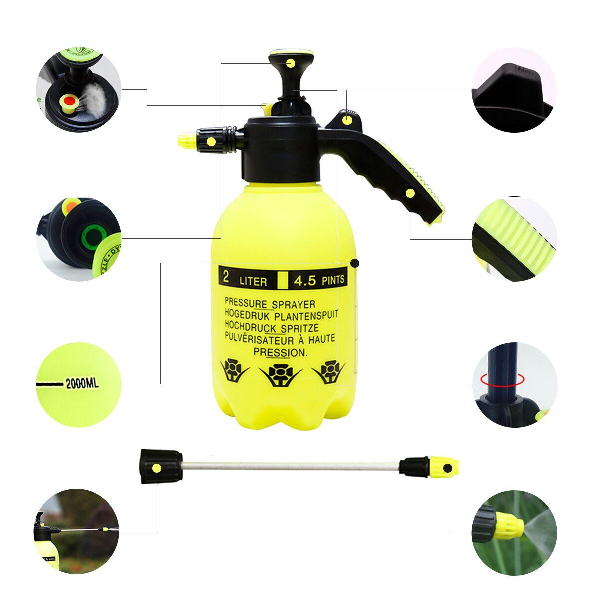 2L Portable Pressure Sprayer Garden Spray Bottle Plant Water Sprayers